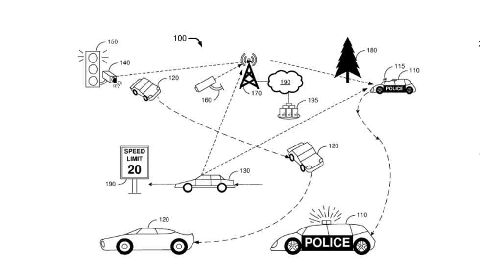 Ford patent shows autonomous police car that can hide