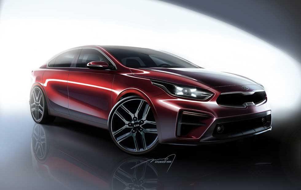 Kia teases 2019 Forte sedan with renderings ahead of Detroit debut