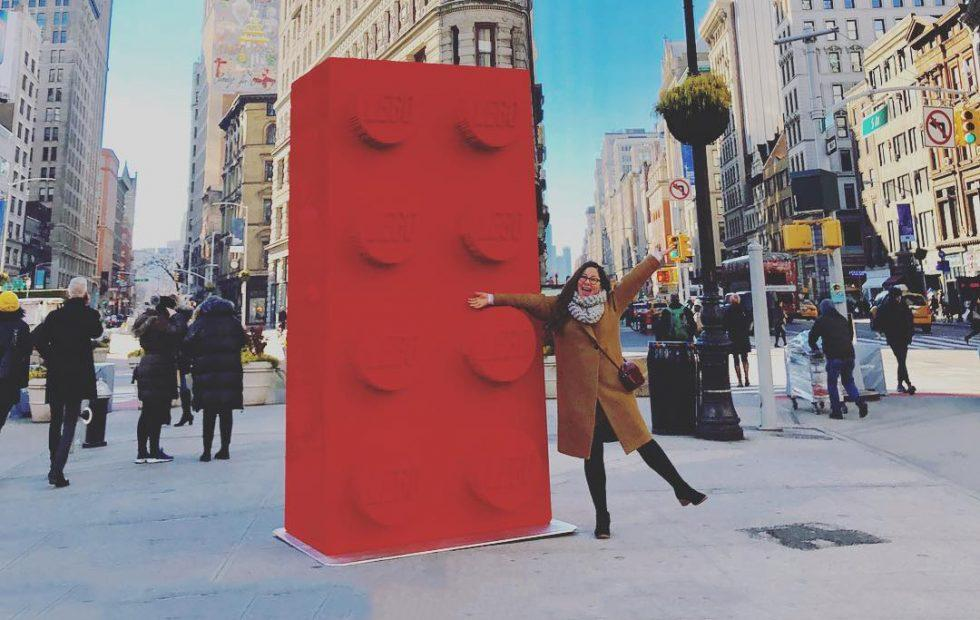 A giant LEGO brick just appeared in Manhattan