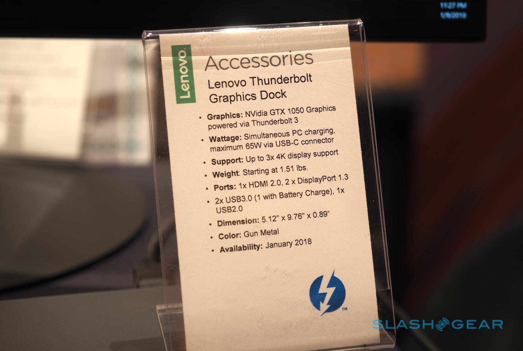 Lenovo Thunderbolt 3 Graphics Dock runs Windows Mixed
