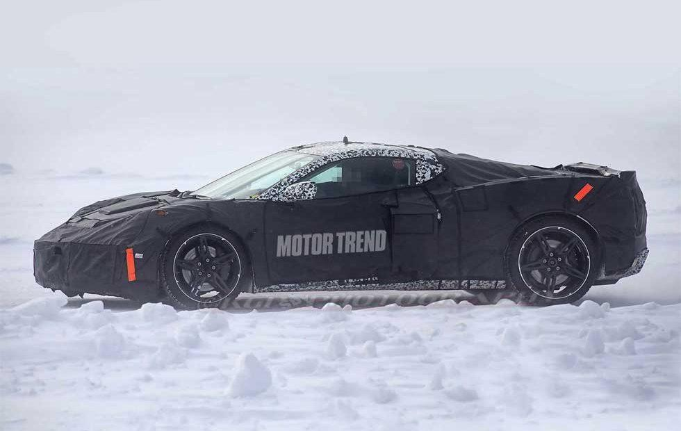 Mid-Engine Corvette spied cold weather testing