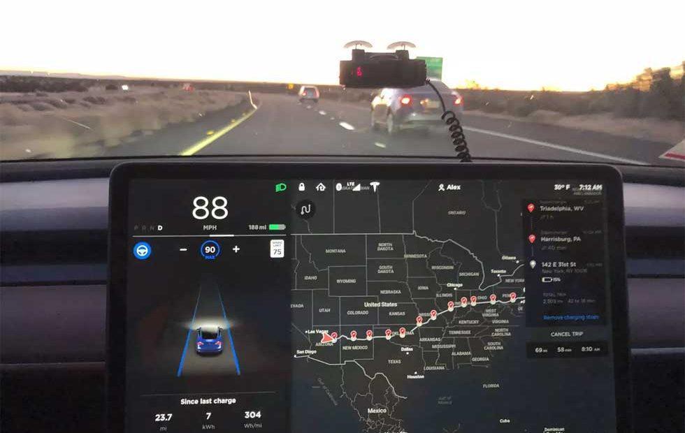 Tesla Model 3 Sets Cannonball Run EV Record