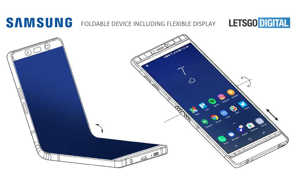 Galaxy X foldable phone details in CES 2018 private viewing
