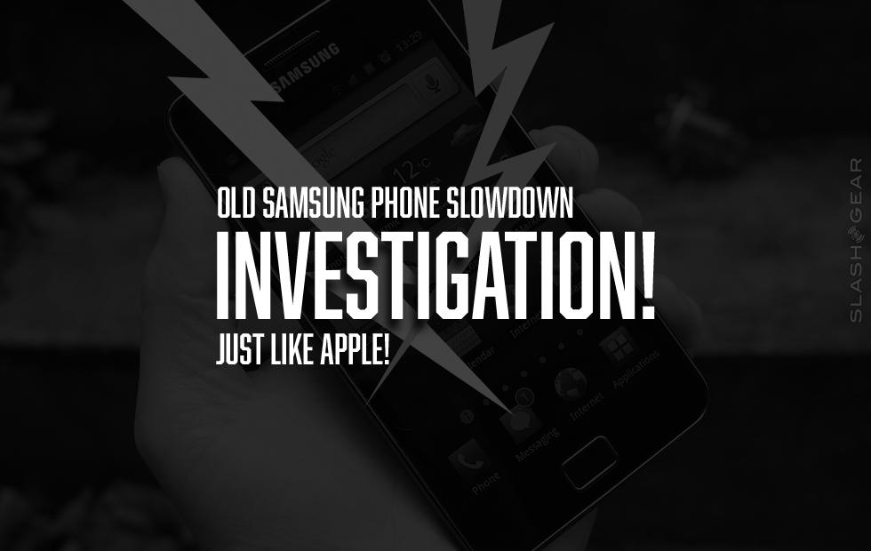 Samsung investigated for old phone slowdown (just like Apple)