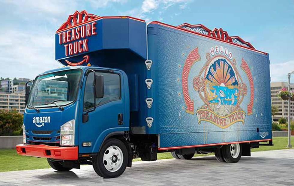 Amazon Treasure Truck brings goodies to Whole Foods parking lots