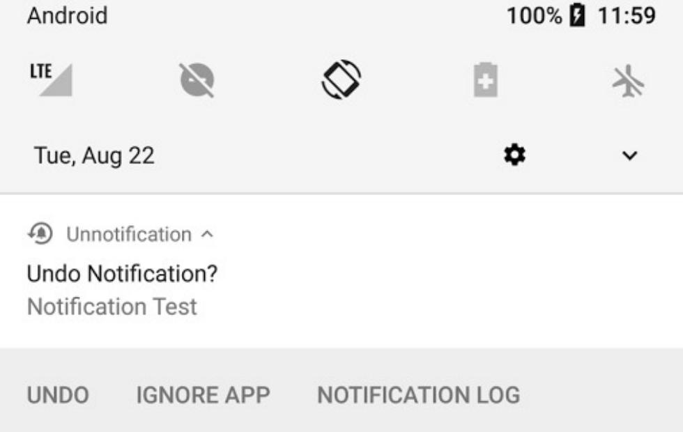 Unnotification returns the Android notifications you sent away