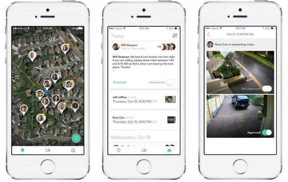 Vivint Streety is a neighborhood watch app of shared cameras