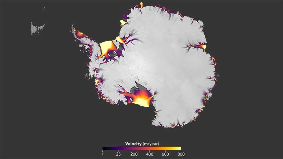 NASA study highlights Antarctic ice flow changes