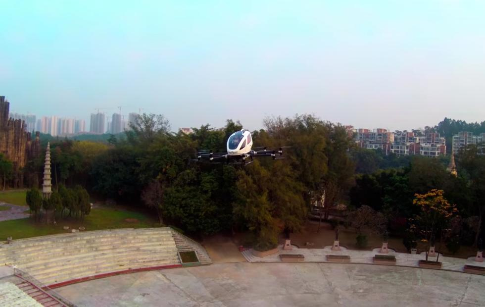 Ehang passenger drone makes successful human test flights