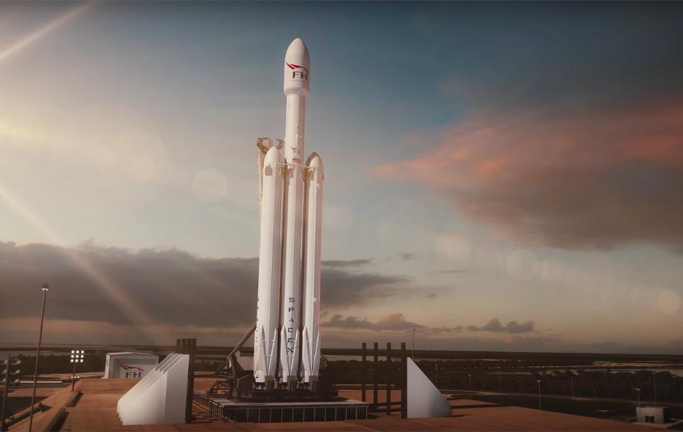 SpaceX's Tesla Roadster-launching Falcon Heavy rocket video is a must-see