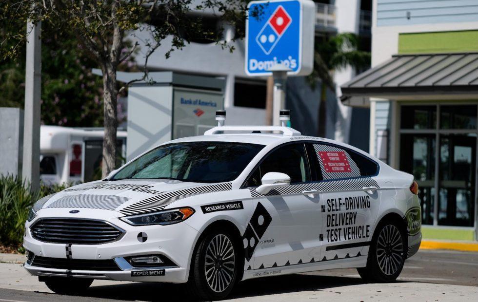 Ford self-driving pizza delivery launches Miami autonomous trials