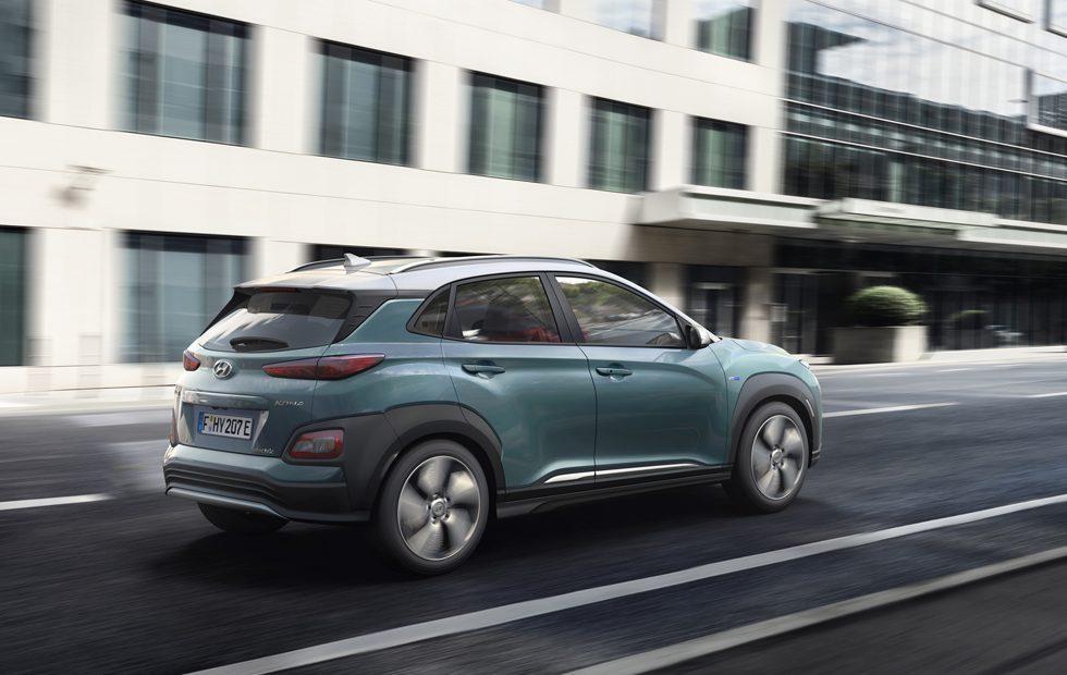 Hyundai Kona fully-electric SUV has 292-mile range
