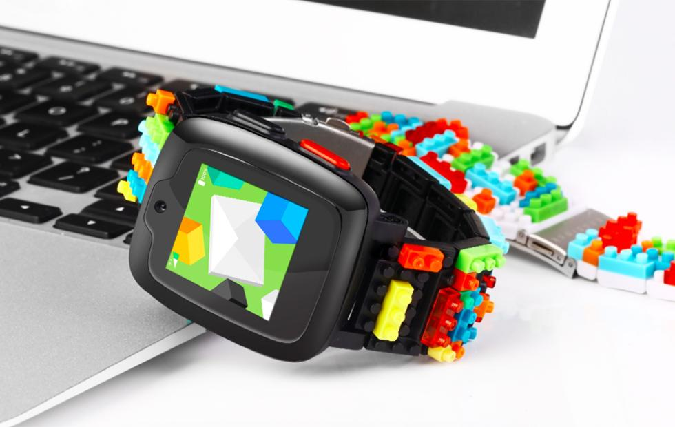 Omate x Nanoblock smartwatch for kids packs 3G, selfie camera, blocky design