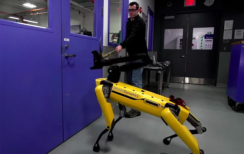 Watch Boston Dynamics' robot shake off an aggressive human