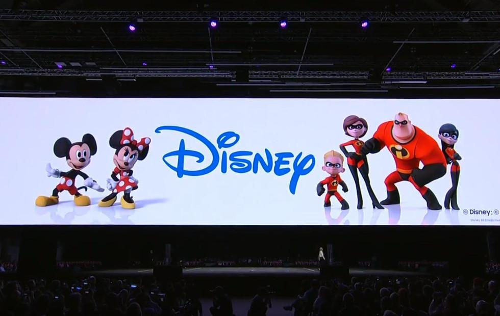 Samsung AR Emoji includes iconic Disney characters