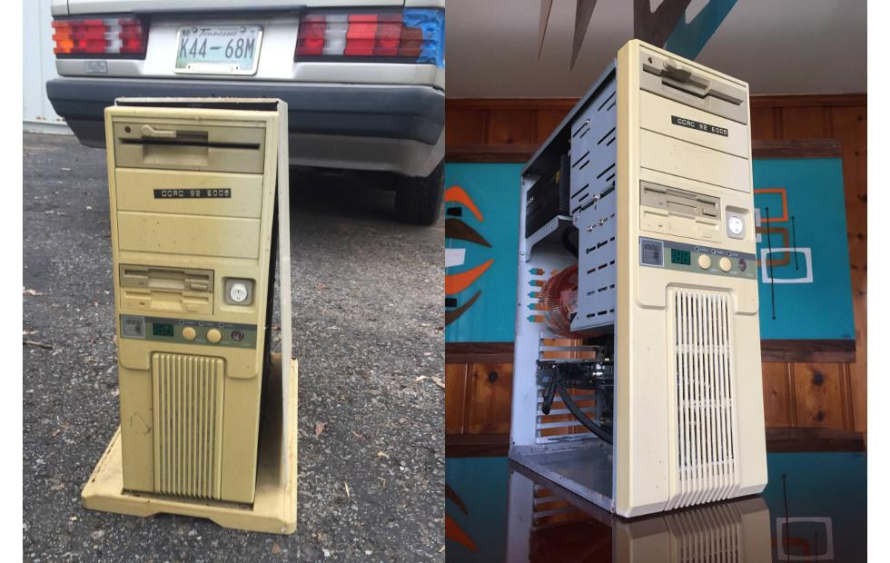 Mod puts modern PC internals inside ancient 386 case
