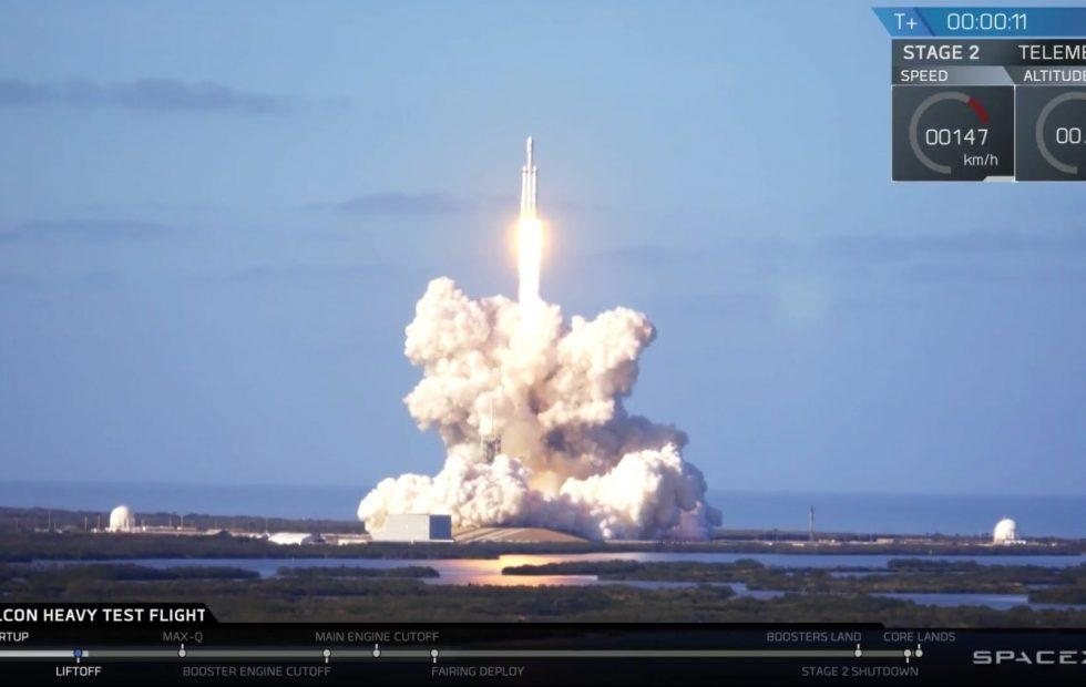 SpaceX Falcon Heavy's first test flight was an incredible success