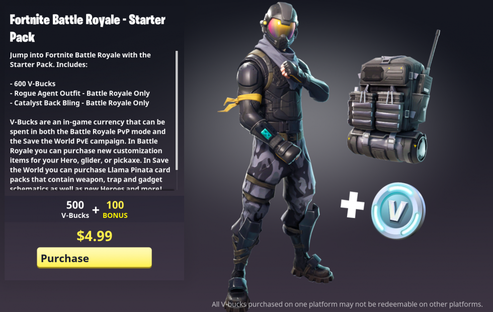 Fortnite's tempting starter pack is now live in the US