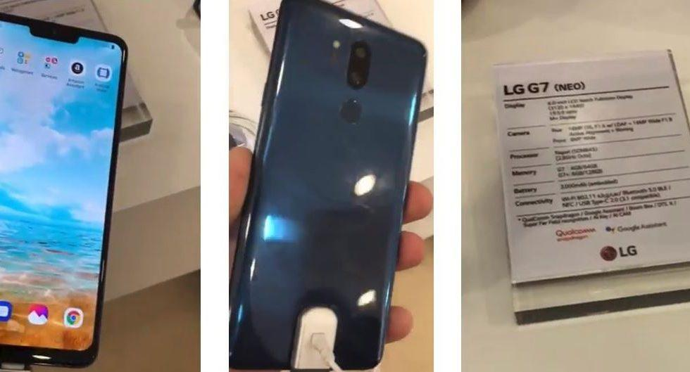 LG G7 leak shows off a familiar looking notch