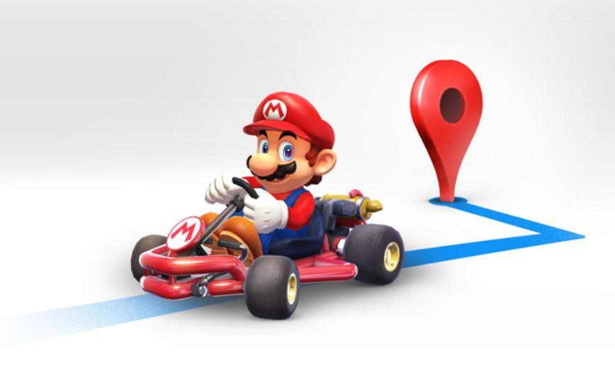 Mario Kart invades Google Maps today