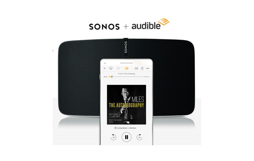 Sonos Audible support launches for real this time