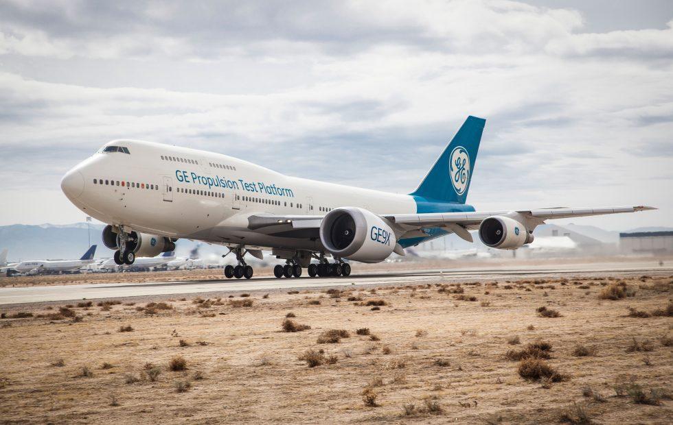 Watch GE's huge GE9X jet engine ace its first flight test