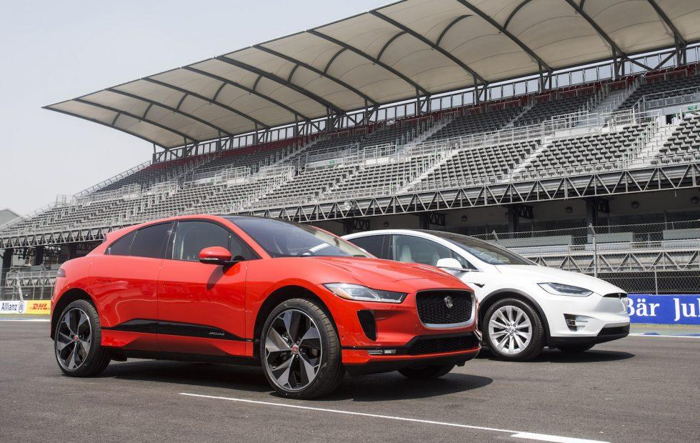 Watch Jaguars I Pace Beat Teslas Model X Head To Head