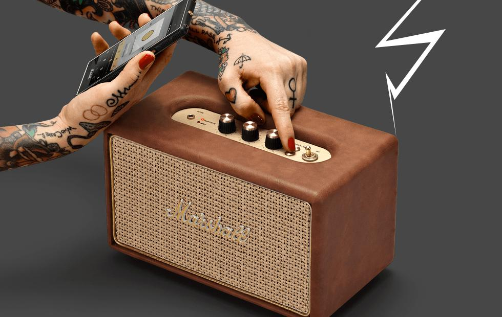 This tiny Marshall Acton Tawny speaker keeps it classy