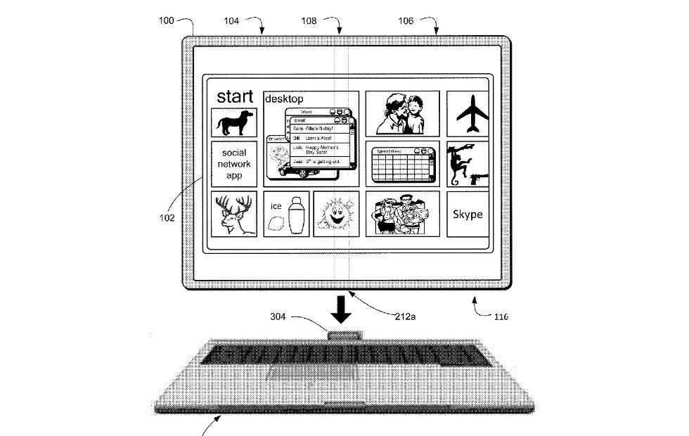 Microsoft foldable tablet patent has an interesting twist