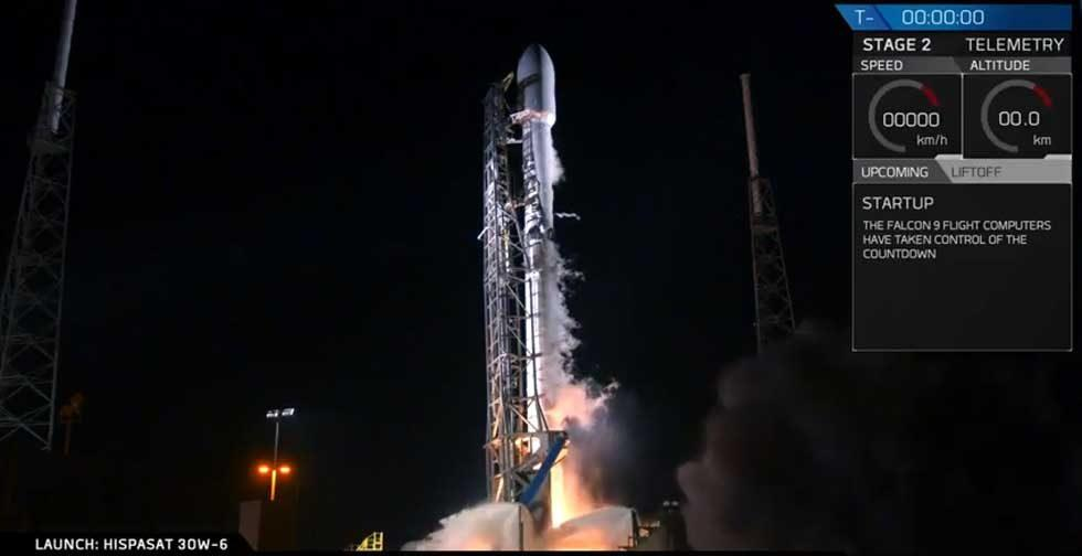 SpaceX Falcon 9 successfully puts HIPASAT into orbit