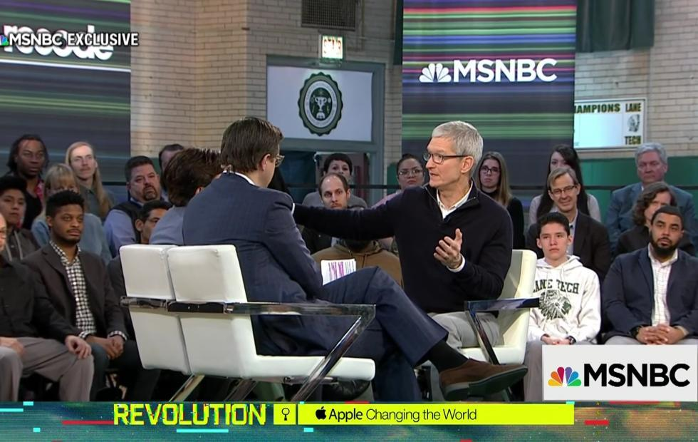 Tim Cook takes a shot at Android while slamming Facebook