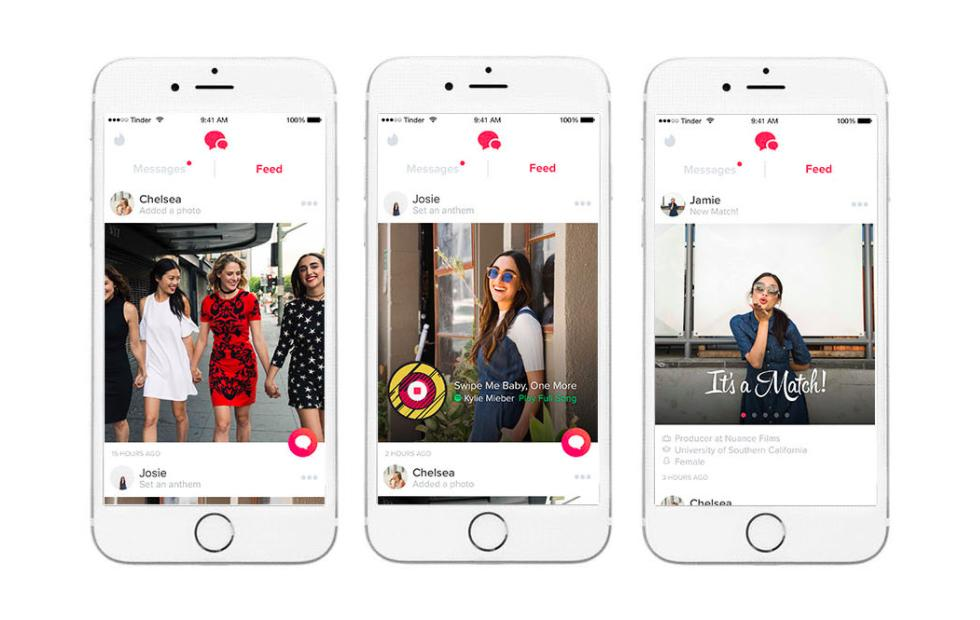 Tinder Feed, the dating app's social updates feature, rolls out to everyone