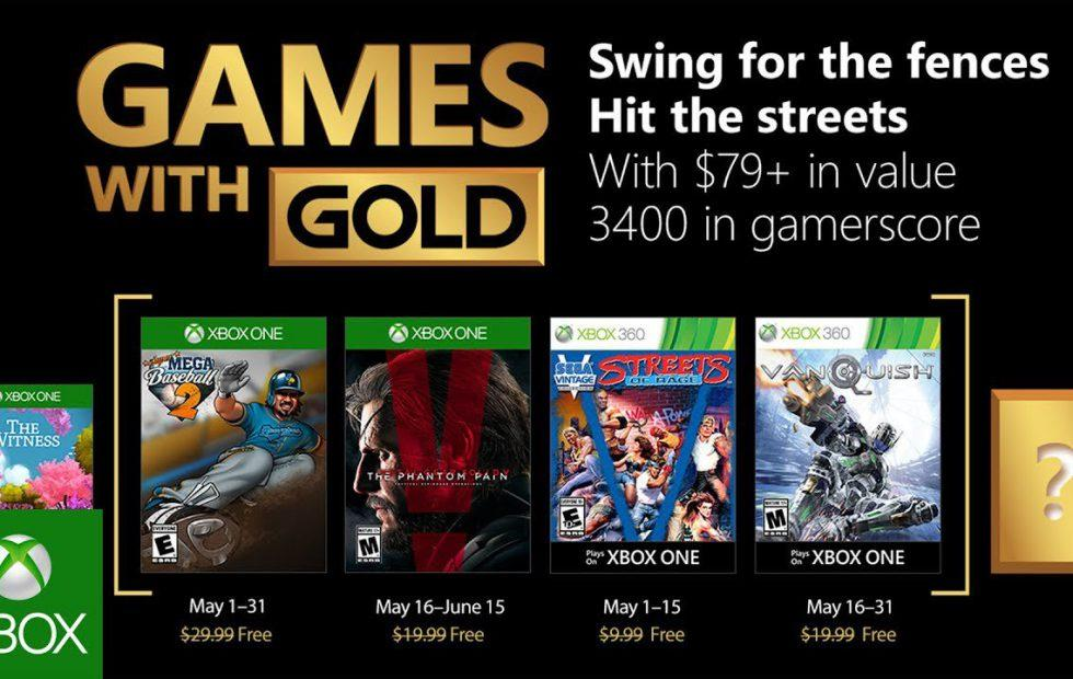 Xbox Free Games June 2020.Xbox Games With Gold May 2018 Lineup Features Mgs5 Vanquish