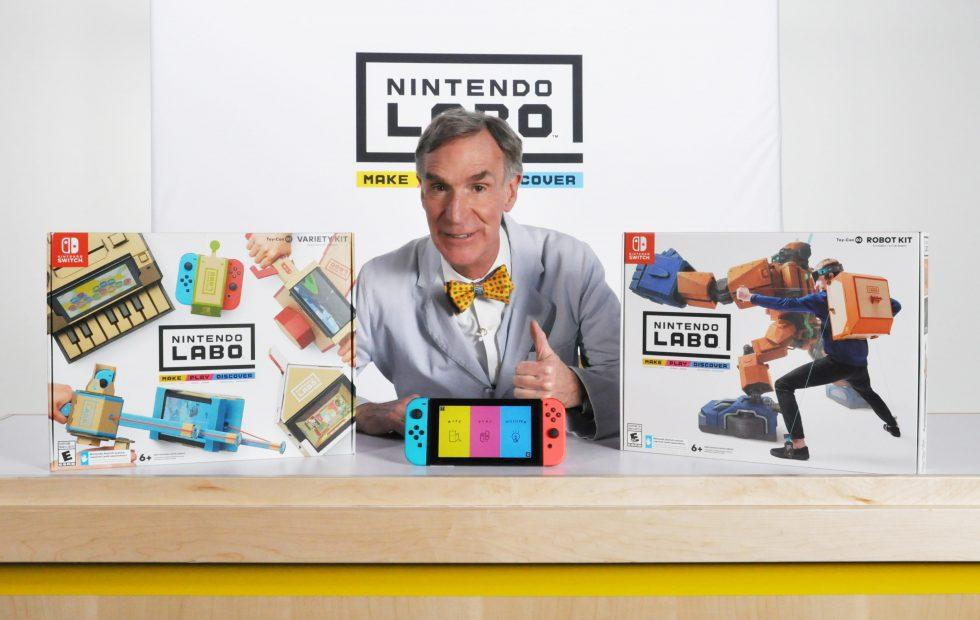Nintendo Labo launches today: Watch Bill Nye mess around with it