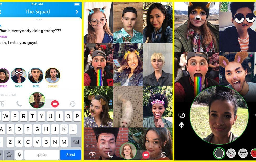 Group video chatting is Snapchat's newest feature (and Instagram's sudden idea)