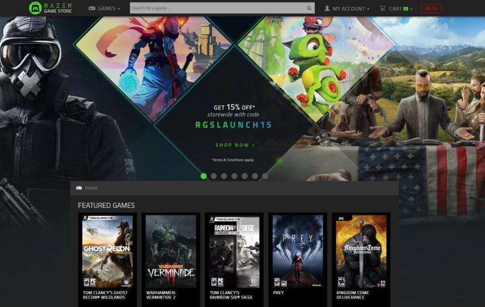 Razer Game Store sells games with rewards for each purchase