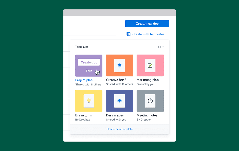 Dropbox Paper adds customizable templates to simplify doc creation