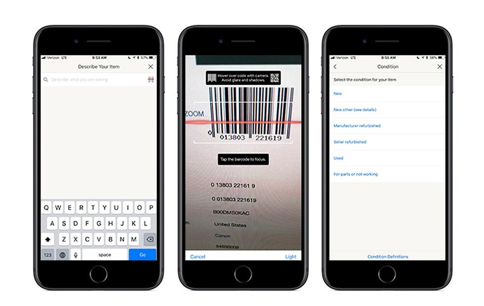 eBay iOS app adds barcode scanner to simplify listing creation