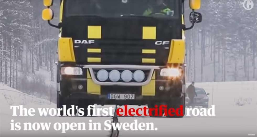 Sweden opens first road that charges EVs as they drive