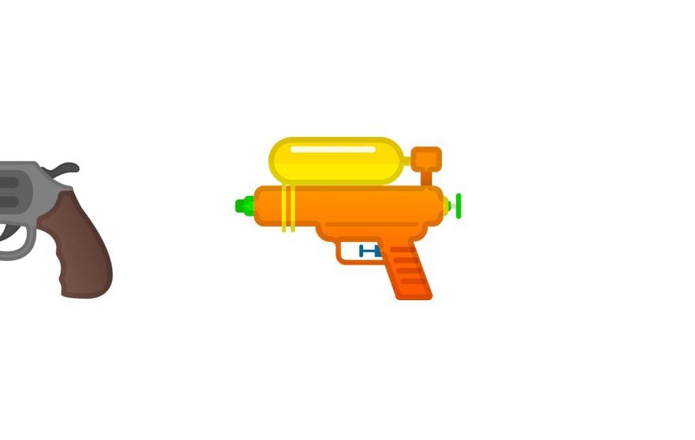 Cut and Paste Emoji: Google Gun goes Watergun, a short history