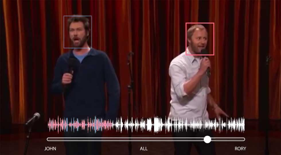 Google deep learning audio-visual model can pinpoint one voice in many