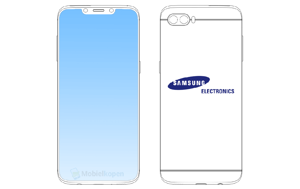 Samsung phone design patent shows iPhone X-esque notch
