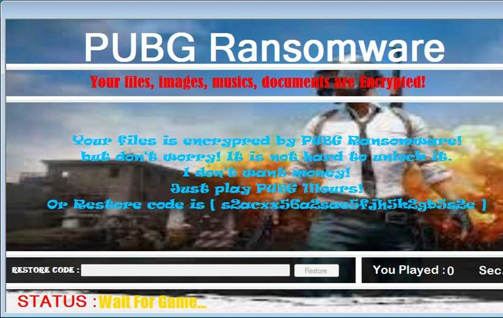 PUBG Ransomware makes you play PUBG to decrypt hostaged files
