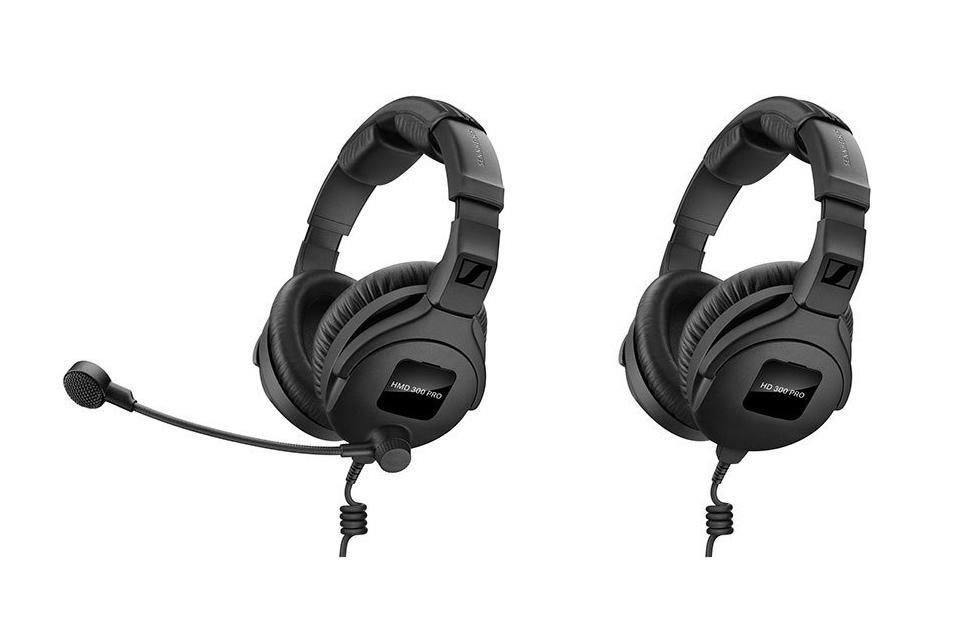 Sennheiser 300 Pro headphones, headsets emphasize comfort