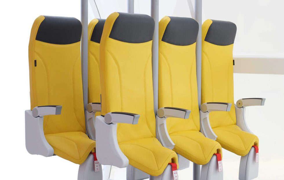 Those terrifyingly cramped SkyRider airplane seats are back