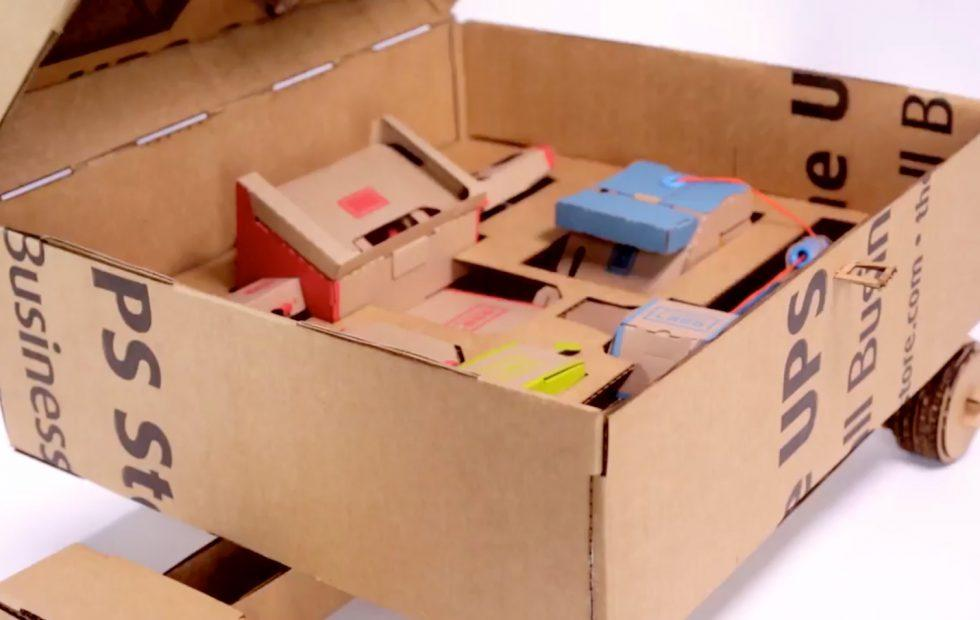 This Nintendo Labo cardboard carry-case is UPS genius