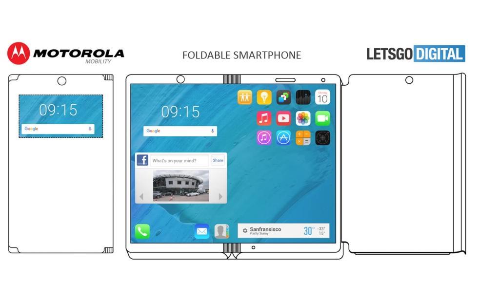 Motorola foldable phone patent includes a curious case