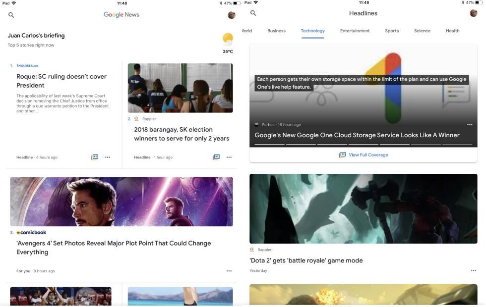 AI-powered Google News available now on iPhone, iPad