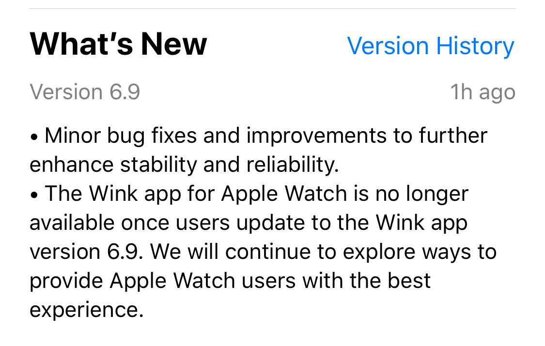 Wink just killed its Apple Watch app - SlashGear