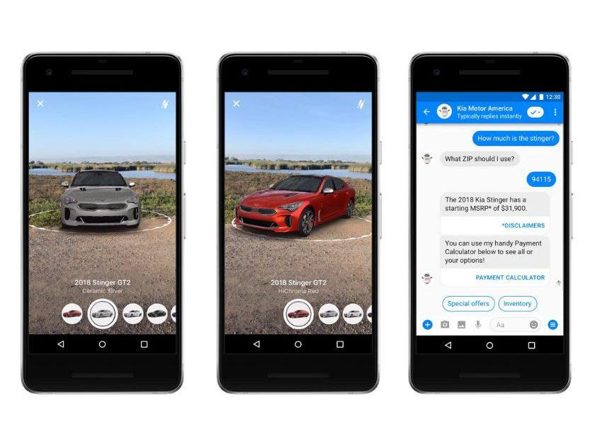 Facebook Messenger and Instagram are getting AR camera effects